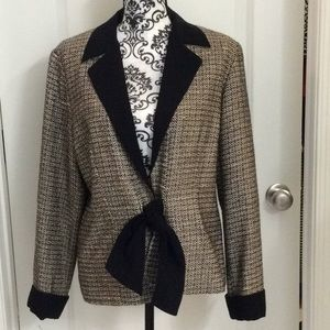 NWOT.  Ladies tie front jacket